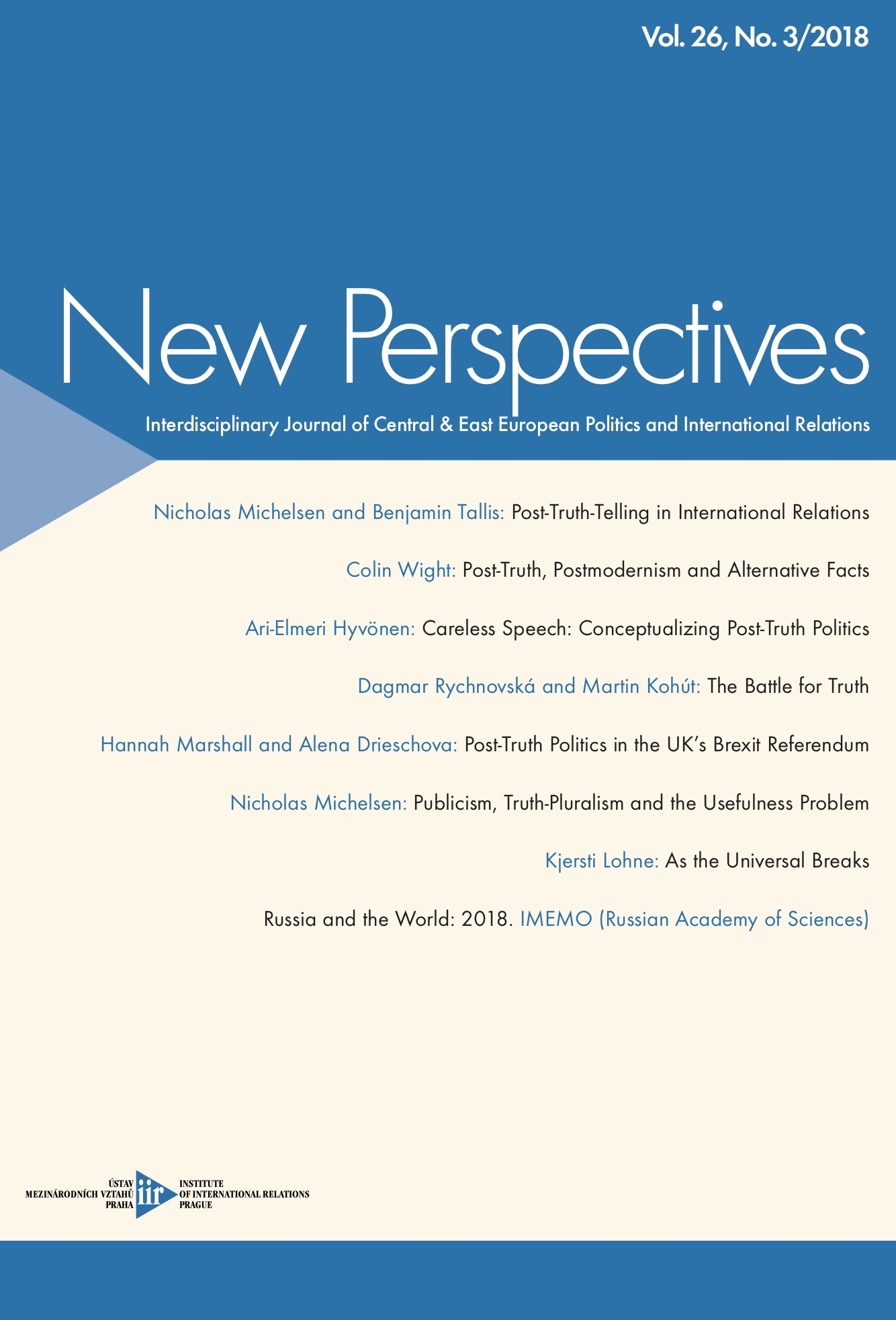 New Perspectives Issue 03/2018