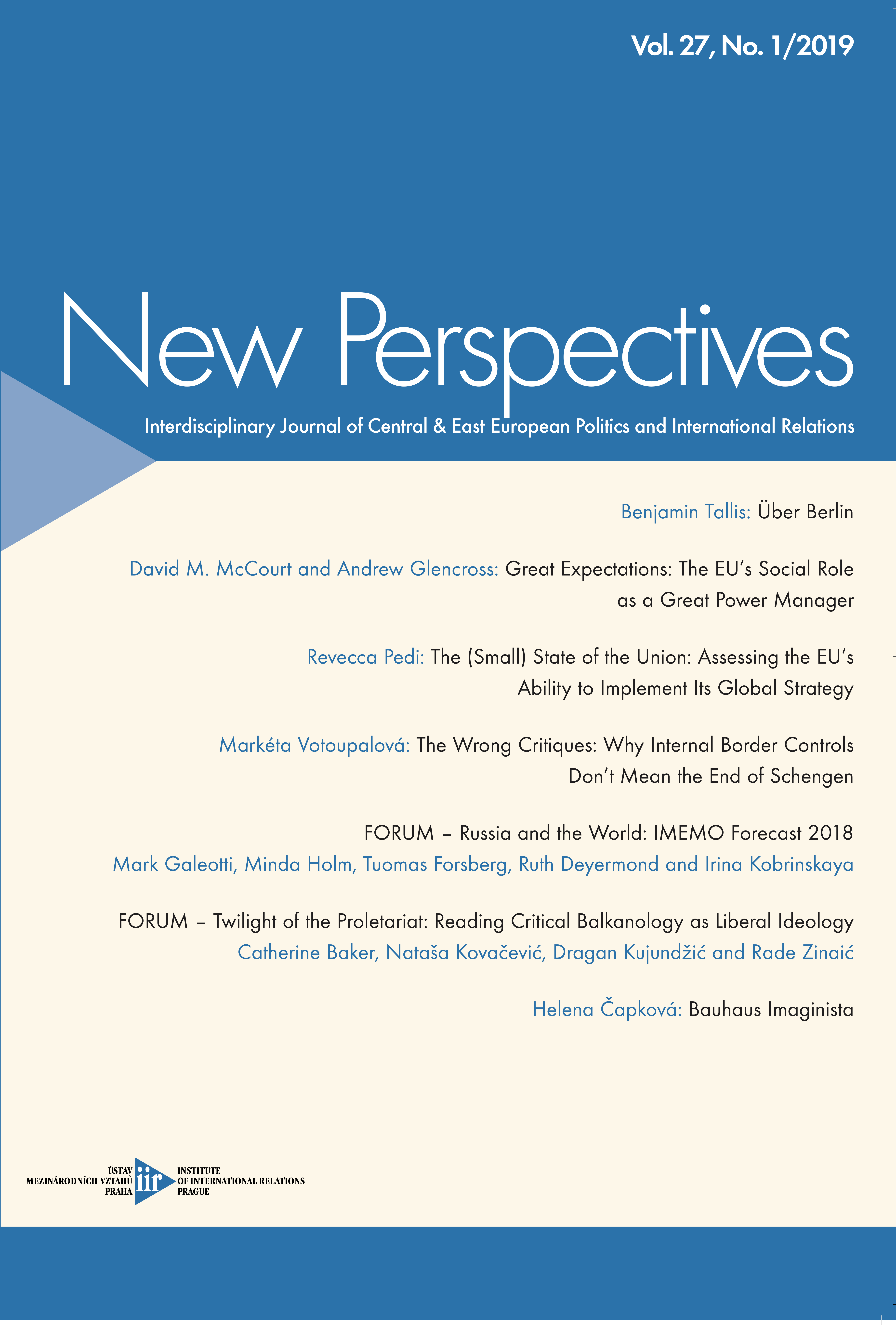 New Perspectives Issue 01/2019